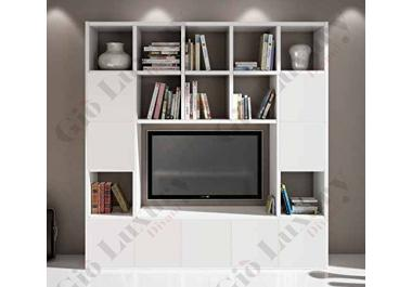meuble tv biblioth que acheter meubles tv biblioth que en ligne sur livingo. Black Bedroom Furniture Sets. Home Design Ideas