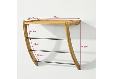 Porte serviette bois acheter porte serviette bois en ligne sur livingo - Porte serviette bois ikea ...